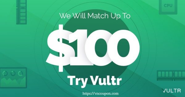 Promo Dan Gift Code Vultr Januari 2020 –  $100, $50 Free Credit for New Account